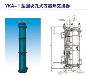 YKA · I type round block hole graphite heat exchanger