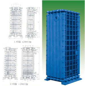 KS type rectangular block hole graphite heat exchanger